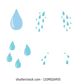 Tears set. Drop. Vector flat cartoon character icon design. Isolated on white background. Cry,tears concept