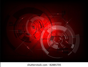 tech background in the red