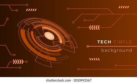 Tech Circle Background Design Concept