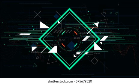Tech futuristic abstract backgrounds, colorful square