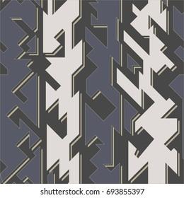 Tech geometric seamless pattern (vector eps 10)