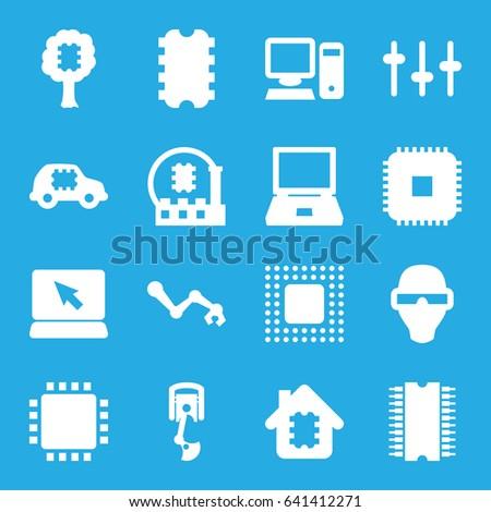 Tech Icons Set Set 16 Tech Stock Vector (Royalty Free