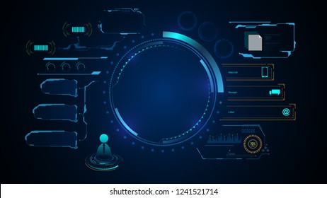 tech infographic template design innovative concept background eps 10 vector