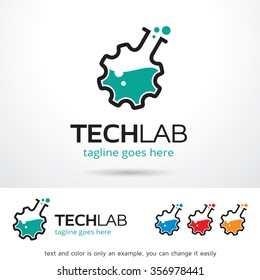 Tech Lab Logo Template Design Vector