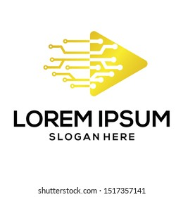 tech logo, digital logo vector and lorem ipsum