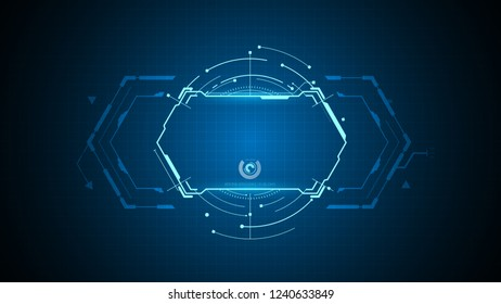 tech sci fi pattern design background eps 10 vector