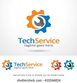 Tech Service Logo Template Design Vector Design