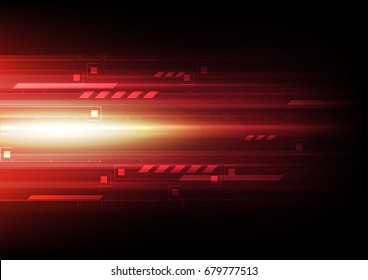 tech signal speed abstract background, red laser vector