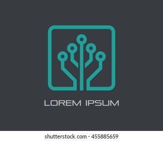Tech Tree Logo Vector