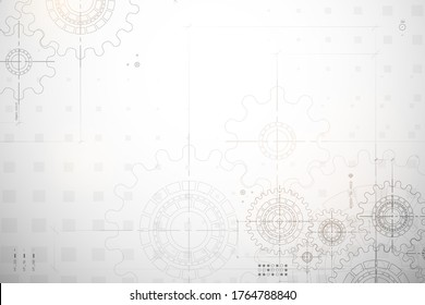 Technical background. Abstract parts of engine. Vector illustration.