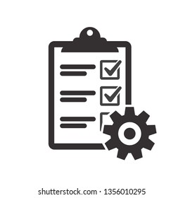 Technical check list. Vector checklist clipboard vector icon