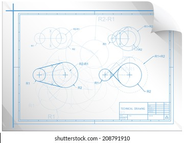 Technical Construction Sheet - Illustration