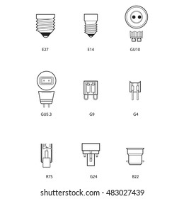 Technical draw of bulb socket