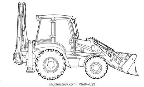 Technical draw of tractor