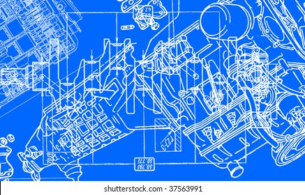 technical drawing background 2