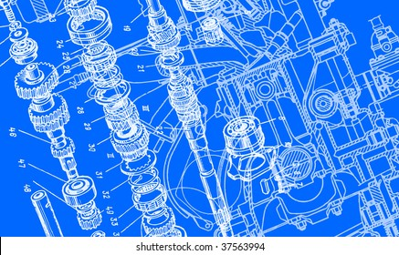 technical drawing background 3