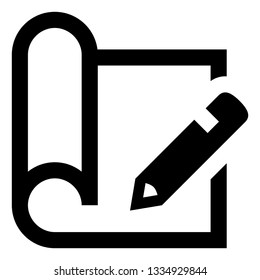 Technical Drawing Blueprint CAD Icon