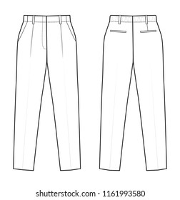 technical drawing of trousers