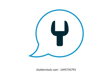 Technical help  icon. Flat style vector graphical symbol.