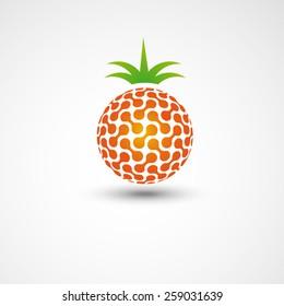 technical pineapple, logo design