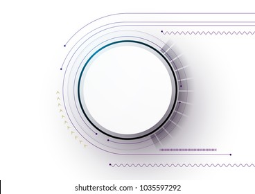 Technical plan, abstract technical project for use in graphic and web design. Vector drawing of an industrial system with lines and circles. Modern cybernetic design