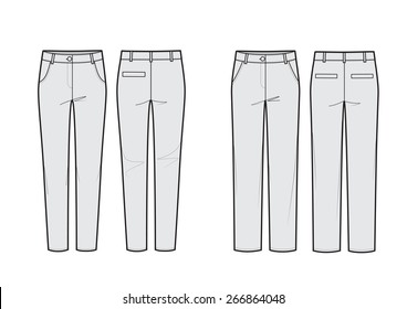 Technical sketches of pants-vector