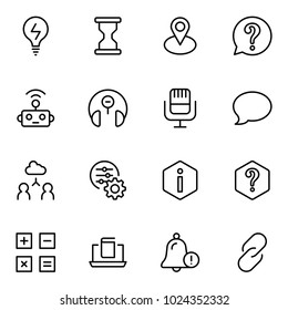 Technical support flat icon set. Single high quality outline symbol of info for web design or mobile app. Thin line signs for design logo, visit card, etc. Outline logo of technical support
