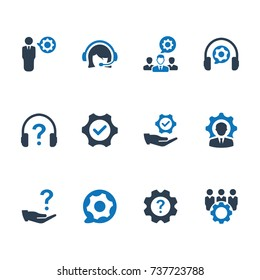 technical support icon - Blue Version