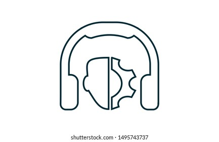 Technical support icon. Flat style vector graphical symbol.