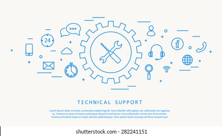 technical support thine line design