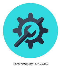 Technical support vector illustration. Service tool icon.