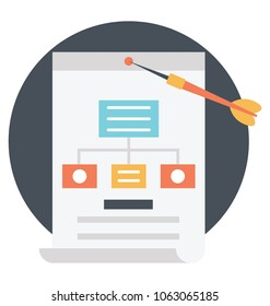 A technical vector icon of web sitemap