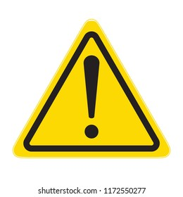 technical warning sign; hazard!