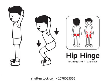 Technique to fit and firm.Hip hinge.