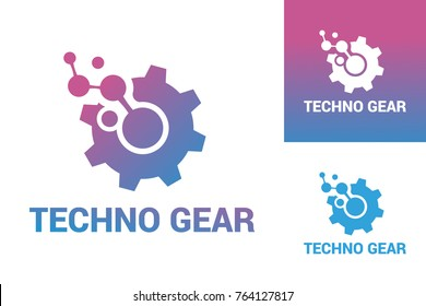 Techno Gear Logo Template Design
