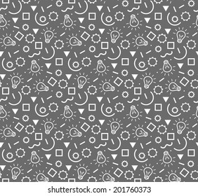 Techno seamless pattern.  Vector illustration