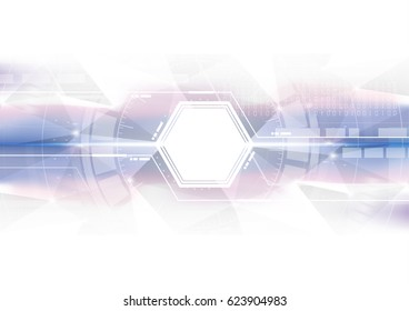Technological hexagon colorful scanning interface abstract background vector design