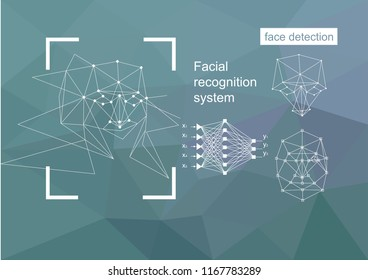 Technologies, approaches to face recognition, vector concept. Neural network algorithm.