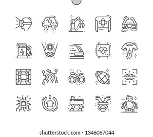 Technologies of the future Well-crafted Pixel Perfect Vector Thin Line Icons 30 2x Grid for Web Graphics and Apps. Simple Minimal Pictogram