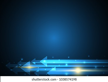 technology abstract arrow stripe copy-space background