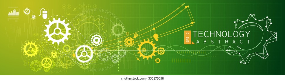 Technology Abstract Background - Stock Banner Image