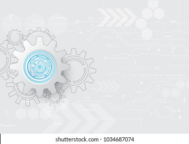 Technology abstract concept background with line as cogwheel and decoration, wallpaper, backdrop and template. Vector illustration background