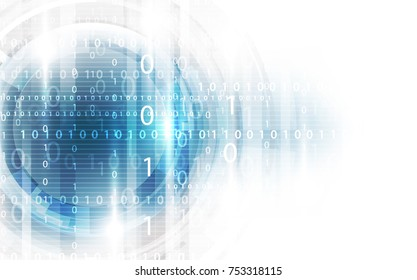 technology abstract digital background, vector illustration
