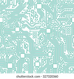Technology abstract motherboard illustration background. Vector graphic template.