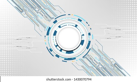 Technology abstract touching system background template copy space vector design