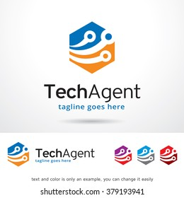 Technology Agent Logo Template Design Vector