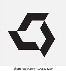 Technology Arrrows Loop Logo Icon Emblem