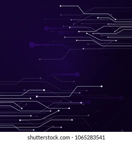 Technology background abstract vector illustrations design blue lighting circuit futuristic style. digital electronics technology concept with copy space.