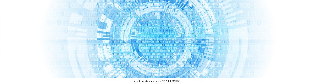 Technology background. Binary computer code.  Vector illustration.