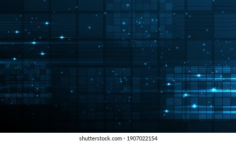 Technology background Hi-tech communication concept innovation abstract background vector illustration